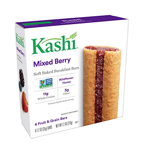 Kashi, Soft Baked Breakfast Bars, Mixed Berry, Non-GMO Project Verified, 7.2 oz (6 - Kashi Bars Protein