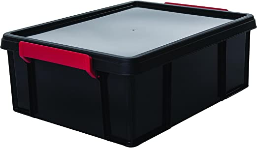 Iris Ohyama, caja apilable de almacenamiento con tapa - Multi Box ...
