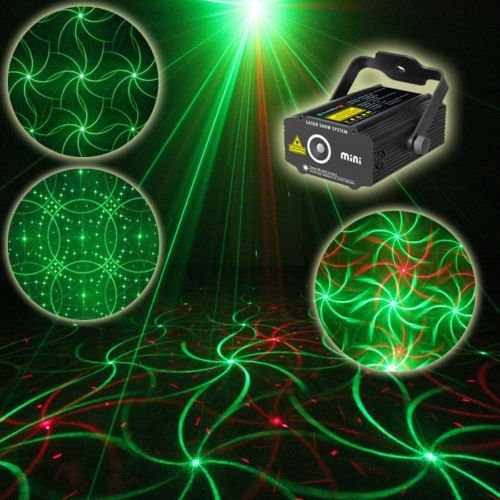 SUNY NEW Mini GR 4Gobo Laser Stage lighting Holiday DJ Dance Home Party Xmas Light P309