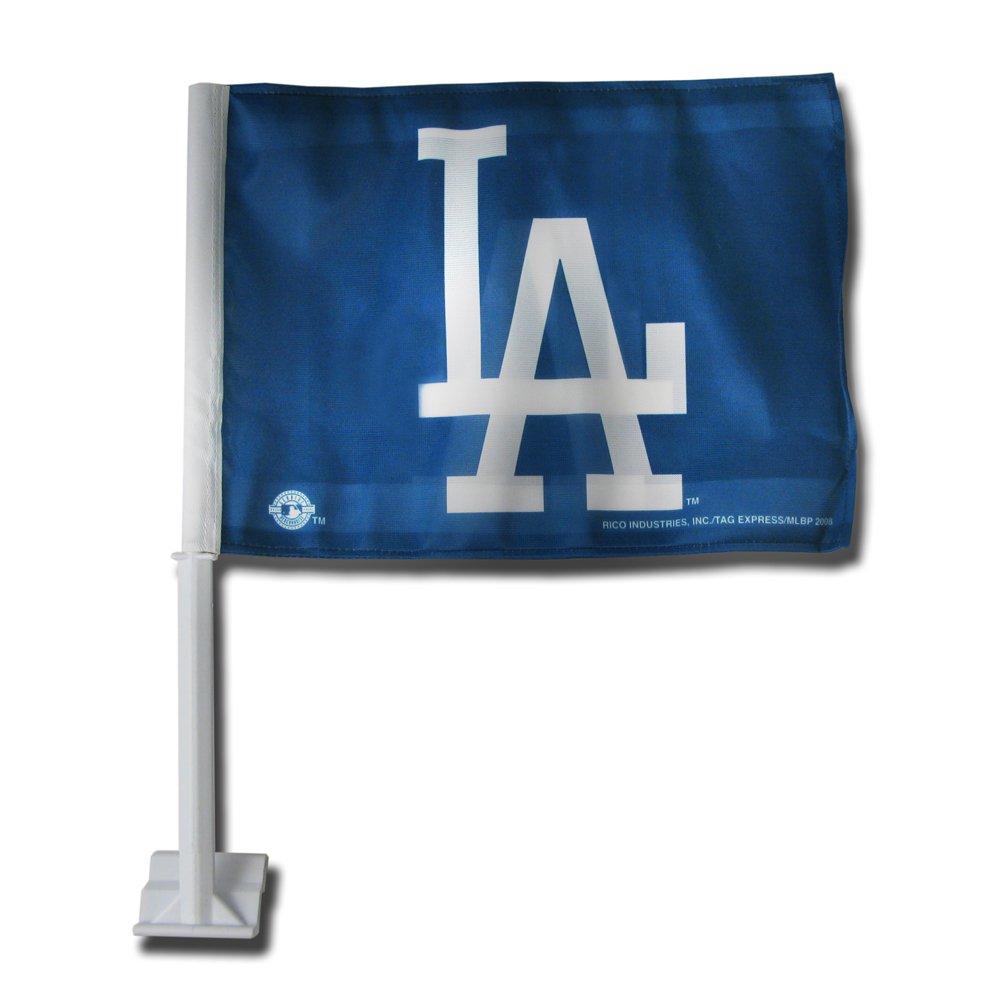 MLB Los Angeles Dodgers LA Car Flag Rico Industries FG5602