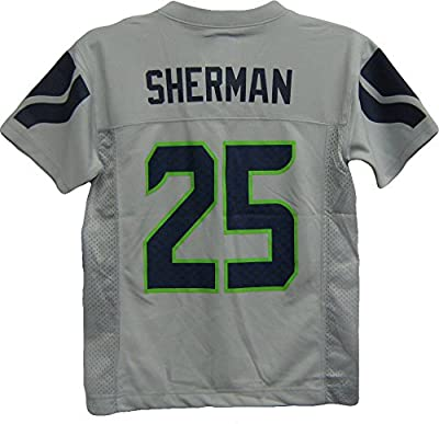 Richard Sherman Seattle Seahawks Gray Alternate NFL Youth 2015-16 Season Mid-tier Jersey