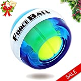 DINOKA Wrist Trainer LED Wrist Ball Powerball Gyroscopic Ball - Arm Strengthener, Wrist & Forearms Exerciser (Blue NO Counter)