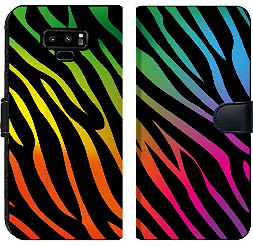Samsung Galaxy Note 9 Flip Fabric Wallet Case Rainbow Zebra Background Image 18205580 Customized Tablemats Stain Resistance Collector