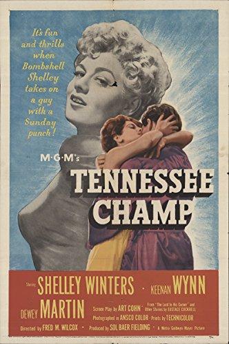 "Tennessee Champ 1954 Authentic 27"" x 41"" Original Movie Poster Keenan Wynn Drama U.S. One Sheet"