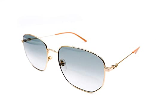 3db5d36a2bcf9 Gucci GG0396S 002 Gold Green GG0396S Square Sunglasses Lens Category 1 Size  5