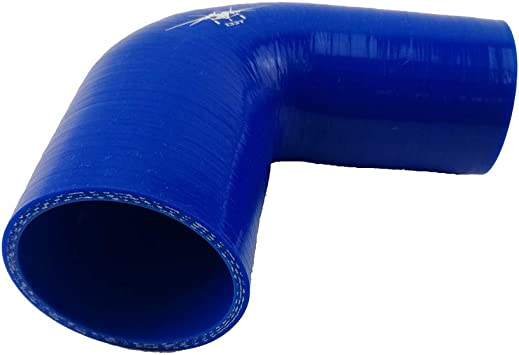 Leg length 4 Inch Blue 51 mm-76 mm I33T 3-Ply 45 Degree Elbow Silicone Reducer Coupler Universal Turbo Intake Pipe Inner Diameter 2 Inch to 3 Inch