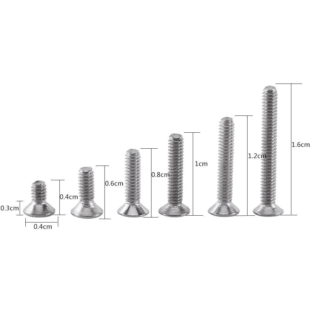 M2 x 4//6//8//10//12//16mm T/ête Plate 250Pcs Kit de Assortiment Vis Boulon Douille Hexagonale Six Pans en Acier Inoxydable A2 avec Ecrous