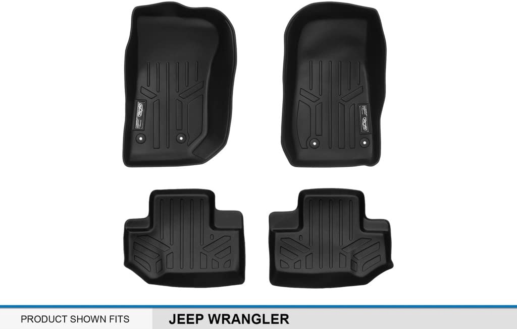 JK Old Body Style Only SMARTLINER Custom Fit Floor Mats 1st and 2nd Row Liner Set for 2014-2018 Jeep Wrangler Unlimited