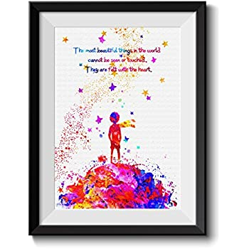 Uhomate The Little Prince Fox Le Petit Prince Little Prince Home Canvas Prints Wall Art Anniversary Gifts Baby Gift Inspirational Quotes Wall Decor Living Room Bedroom Bathroom Art C045 (8X10 inch)