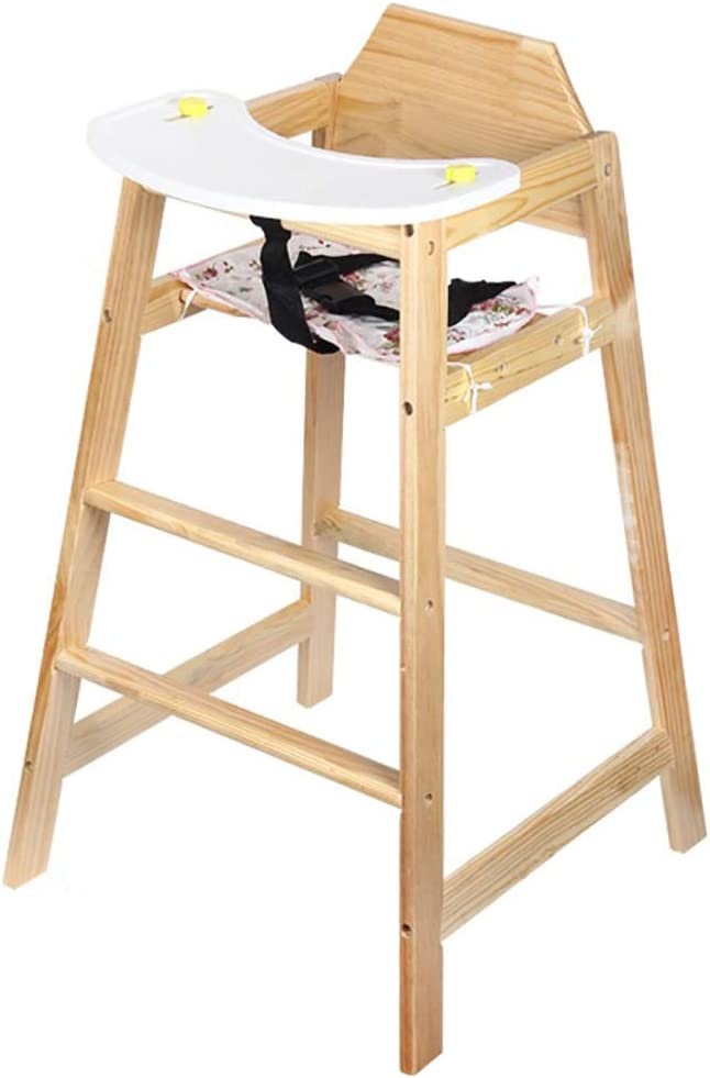 Stackable Wooden Baby High Chair Toddler Kids Highchair