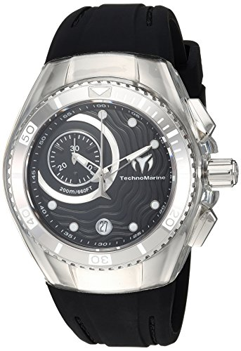 Technomarine Women's 'Cruise' Quartz Stainless Steel and Silicone Casual Watch, Color Black (Model: TM-115378)