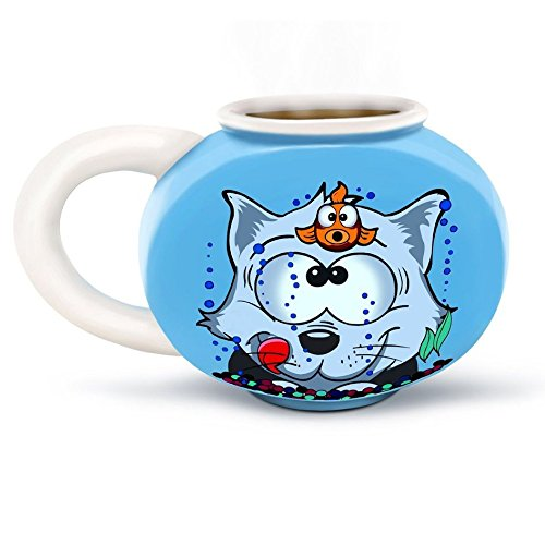Something's Fishy Fishbowl Mug Coffee Tea Hot Drink Ceramic