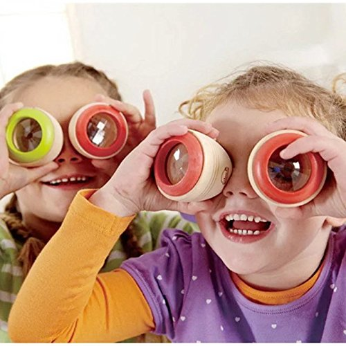 2 Pcs Magic Bee Eye Effect Kaleidoscope Wooden Kids Toy Prism to Observe the Colorful World Funny Children (Abc 13 Days Of Halloween)