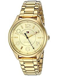 Tommy Hilfiger Women's Quartz Stainless Steel Casual Watch, Color:Gold(Model: 1781673)