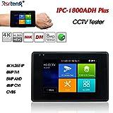 Rsrteng IPC-1800ADH-Plus CCTV Camera Tester 4-inch IPS Touch Screen Monitor CCTV Tester with HD-TVI HD-CVI AHD Camera Support POE WiFi 4K H.265 HDMI TF Card Slot