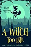 A Witch Too Late (Crystal Springs Cozy Witch Mystery Series Book 1)