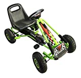 Vroom Rider Racing Pedal Go-Kart with Green Ride On Pneumatic Tire