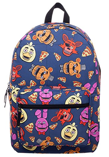 5 Nights At Freddy's 2 Costumes (Five Nights At Freddy Large School Backpack FNAF All Over Prints Bag)