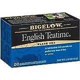 Bigelow English Teatime Tea 20 Bags (Pack of 6), 120 Tea Bags Total.  Caffeinated Individual Black Tea Bags, for Hot Tea or Iced Tea, Drink Plain or Sweetened with Honey or Sugar