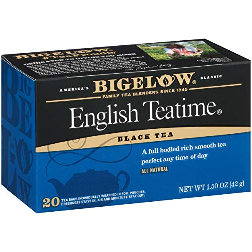 Bigelow English Teatime Tea 20 Bags (Pack of 6), 120 Tea Bags Total.  Caffeinated Individual Black Tea Bags, for Hot Tea or Iced Tea, Drink Plain or Sweetened with Honey or Sugar