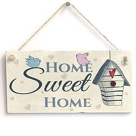 chuanghe3943 Home Sweet Home Placa de Madera Vintage de 25,4 ...