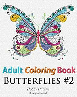 Butterfly Colouring Book Adult Amazoncouk Elaine