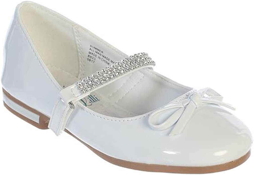 Swea Pea /& Lilli New Girls Flats with Rhinestones Strap Mary Jane Dress Shoes