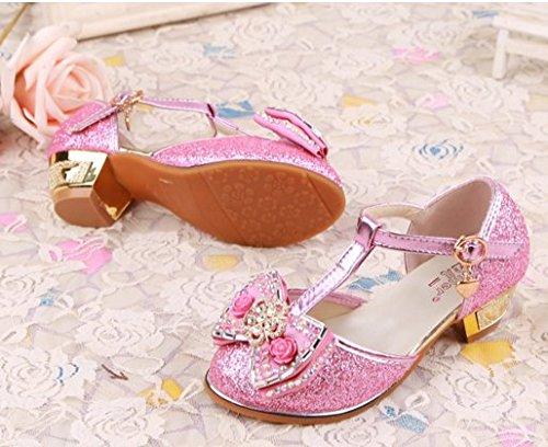 OPSUN Mädchen Sandalen Prinzessin Kinderschuhe Sandalen Sandaletten Kleinkinder Halbschuhe Sandalette Ballerinas Pink