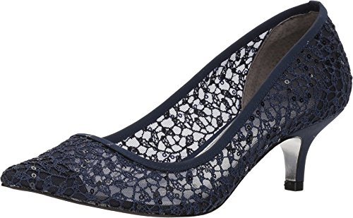 Adrianna Papell Women's LOIS-LC Pump, Navy Martinique lace, 6.5 M US