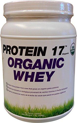 Whey Protein 17 Organic Supplément poudre, délicieux naturel, 1 Pound
