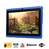 Tagital® 7'' Quad Core Android 4.4 KitKat Tablet PC, HD Screen 1024x600, 8GB, Dual Camera, Netflix, Skype, 3D Game Supported (Blue)