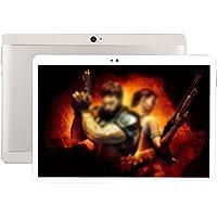 "Hongfei 10,1"" 3G Tablet - 1 GB RAM 16 GB ROM Android 4.4 Quad-Core Dual-SIM-Telefon Tablet PC mit 1280x800 IPS Display Google APP Wifi Bluetooth OTG Dual-Kamera (Silber)"