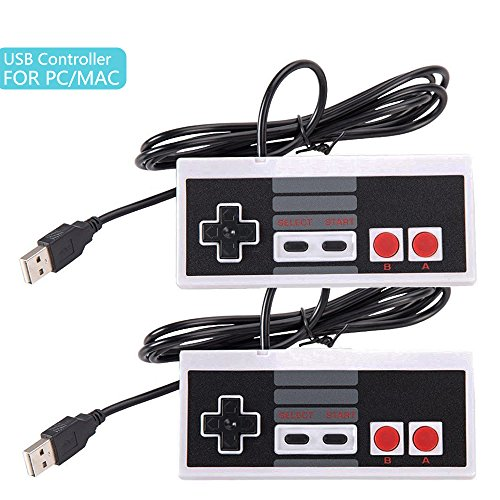 Jumbeha 2 Pack Classic Wired USB NES Controller Gamepad for Windows PC MAC Linux Raspberry Pi