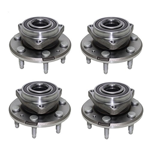 Detroit Axle - Front Wheel Bearing and Rear Hub Assembly Set for 2009-2016 Ford Flex - [2009-2016 Lincoln MKS] - 2010-2016 Ford Taurus - [2010-2016 Lincoln MKT] (Taurus Wheel Bearing Ford Front)
