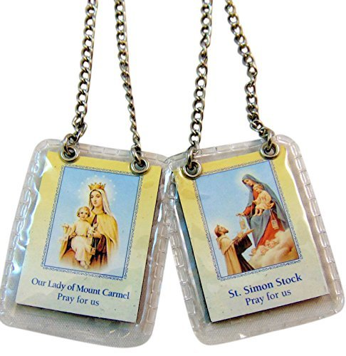 JMJ Products, LLC Brown Scapular on Steel Chain