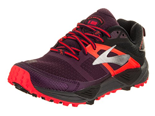 Brooks Women's Cascadia 12 Trail Running Shoes, Bajablue/Paradisepink/Clearwater Pickled Beet/Black/Fiery Coral