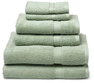 Pike Street 100-Percent Egyptian Cotton 725-Gram 6-Piece Towel Set, Pale Green
