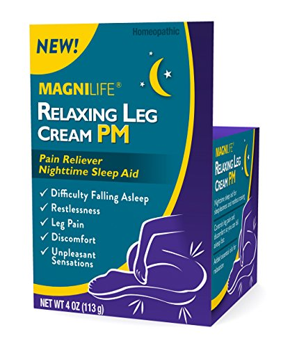 MagniLife Relaxing Leg Calming Cream PM Sleep, Pain, Restless, Jittery Relief Aid