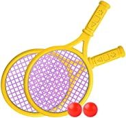 Ajcoflt Crianças Conjunto de raquete de tênis Crianças Tênis engraçado com bolas para casa Jardim Praia Escola