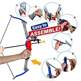 Bow and Arrow Toy for Kids, Outdoor Archery Set for Boys and Girls Age 6-12 Years Old, Foldable Design with 2 Targets and 6 Suction Cup Arrows, Best for Hunting Play and Sports and Adventure Games