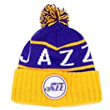 Utah Jazz Mitchell & Ness NBA ''The High 5'' Vintage Cuffed Knit Hat w/ Pom