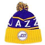 Utah Jazz Mitchell & Ness NBA ''The High 5'' Vintage Cuffed Knit Hat w/ Pom
