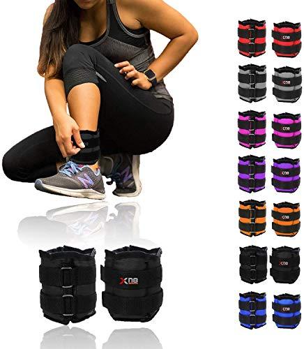 Xn8 Ankle Weights Adjustable Wrist Strap 0.5kg-3kg Leg Weight Sets for Fitness-Jogging-Walking-Exercise-Gymnastics…