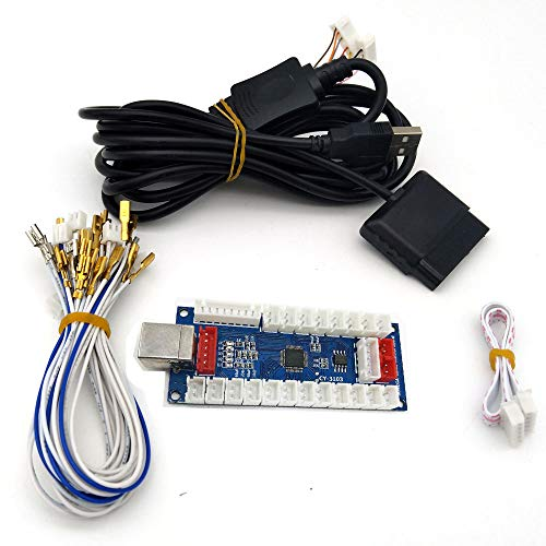 (Tongmisi PS2 PS3 Arcade Controller USB PCB Board Keyboard PC Encoder for Xbox 360 Jamma Arcade Windows)