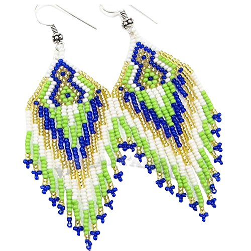 HOLIDAY SHOPPING La vivia NATIVE STYLE COLOR SEED BEADS BEADED