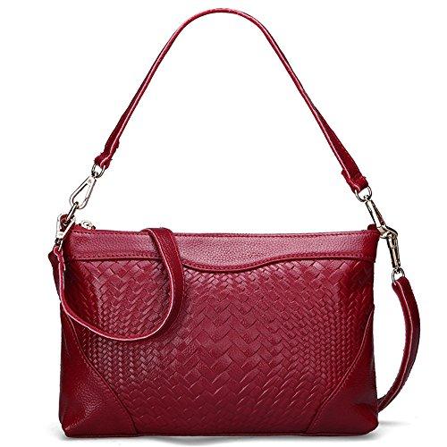 Funcional La Rojo Red Multi Oxblood Minimalista De Señoras Casual Las Moda Oxblood Satchel Bolso Satchel Solo GWQGZ Bolso dSwqIBB