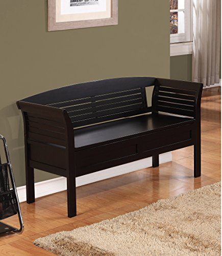 Dark Espresso Furniture Storage Bench For Entryway Bedroom Living Room Bed Shoe With Seat Benches Shoes Sitting Entry Pine Entry Wood Contemporary Seating Indoor Wooden Interior Backless Arms Seats
