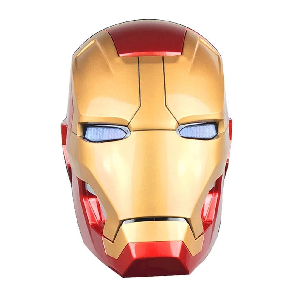 Figurines d'action Marvel Avengers - Casque Iron Man Modèle Marvel Super Hero - De la Ligue Marvel Avengers - Cadeau d'anniversaire for Enfant MK42 Casque Taille réelle à Porter