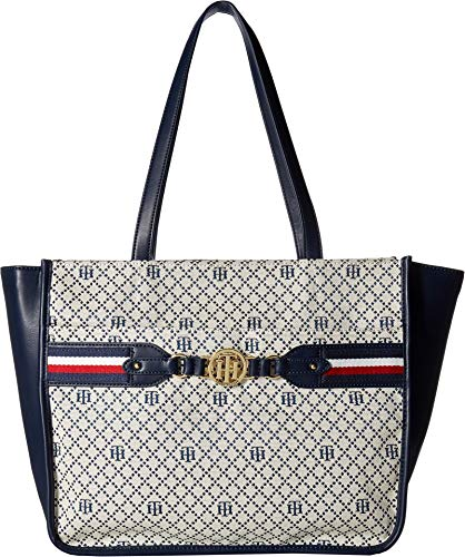 Tommy Hilfiger Women's Brice Tote Navy/Natural One Size