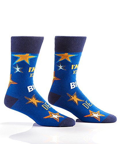 Yo Sox I'm Kind Of A Big Deal Funky Men's Crew Socks for Dress or Casual Wear Size 7-12